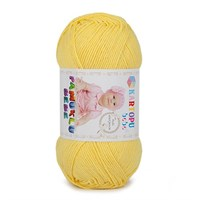 Kartopu Pamuklu Bebe Sarı Bebek Yünü - K330
