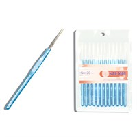Kartopu 00 Numara Mavi Plastik Saplı Dantel Tığ