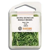 Kartopu 6 Mm Yeşil Boru Boncuk - 04.103