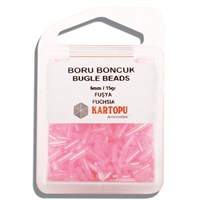 Kartopu 6 Mm Pembe Boru Boncuk - 04.113