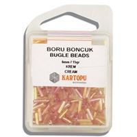 Kartopu 6 Mm Krem Boru Boncuk - 04.114