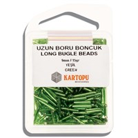 Kartopu 9 Mm Yeşil Uzun Boru Boncuk - 05.103