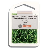 Kartopu 7 Mm Yeşil Burgu Boru Boncuk - 06.103