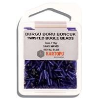 Kartopu 7 Mm Saks Mavi Burgu Boru Boncuk - 06.104