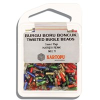 Kartopu 7 Mm Karışık Renk Burgu Boru Boncuk - 06.106
