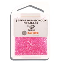 Kartopu 2 Mm Pembe Şeffaf Kum Boncuk - 08.113