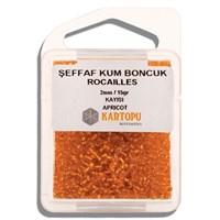 Kartopu 2 Mm Turuncu Şeffaf Kum Boncuk - 08.117