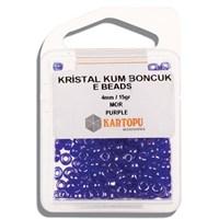 Kartopu 4 Mm Mor Kristal Kum Boncuk - 09.116