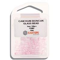 Kartopu 3 Mm Pembe Cam Kum Boncuk - 10.107