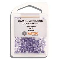 Kartopu 3 Mm Mor Cam Kum Boncuk - 10.116