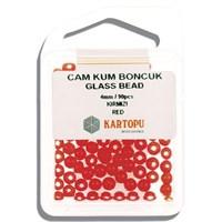 Kartopu 4 Mm Kırmızı Cam Kum Boncuk - 11.102