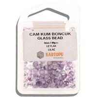 Kartopu 4 Mm Leylak Cam Kum Boncuk - 11.110