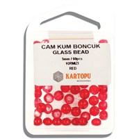 Kartopu 5 Mm Kırmızı Cam Kum Boncuk - 12.102