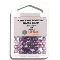 Kartopu 5 Mm Mor Cam Kum Boncuk - 12.116
