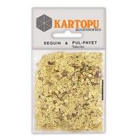 Kartopu Altın Janjan Yuvarlak Figürel Pul Payet - Pp1