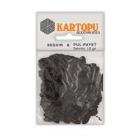 Kartopu Siyah Kelebek Figürlü Figürel Pul Payet - Pp5