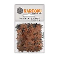 Kartopu Kahverengi Yıldız Figürlü Figürel Pul Payet - Pp7