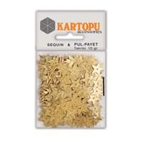 Kartopu Altın Parlak Yıldız Figürlü Pul Payet - Pp7