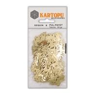 Kartopu Altın At Figürlü Figürel Pul Payet - Pp8