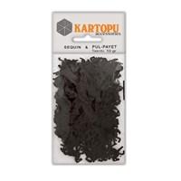 Kartopu Siyah At Figürlü Figürel Pul Payet - Pp8