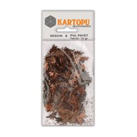 Kartopu Kahverengi Dinazor Figürlü Figürel Pul Payet - Pp9