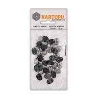 Kartopu Gümüş Rengi Leopar Dikilebilir Boncuk - Ldg4