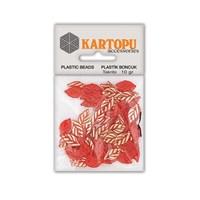 Kartopu Kırmızı Yaprak Süslü Taş - Et3