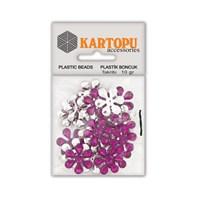 Kartopu Mor Çiçek Süslü Taş - Et5