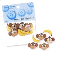 Kartopu Maymun Muz Şeklinde Dekoratif Düğme - 5802