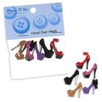 Kartopu Topuklu Ayakkabı Şeklinde Dekoratif Düğme - 6963