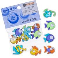 Kartopu Balık Şekilli Dekoratif Düğme - 6952