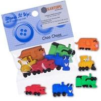 Kartopu Karışık Renk Trenler Şeklinde Dekoratif Düğme - 6543