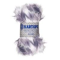 Kartopu Kürk Gri Beyaz El Örgü İpi - Kf901