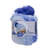 Kartopu Berem Mavi El Örgü İpi - F9004