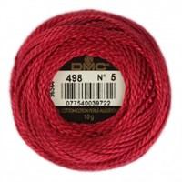Dmc Koton Perle Yumak 10 Gr Kırmızı No:5 - 498