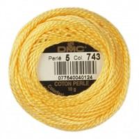 Dmc Koton Perle Yumak 10 Gr Sarı No:5 - 743