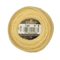 Dmc Koton Perle Yumak 10 Gr Sarı No:8 - 744