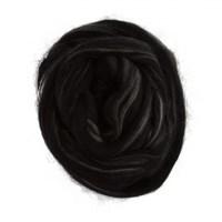 Gazzal Felt Wool Siyah Ebruli Yün Keçe - 6115