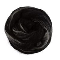 Gazzal Felt Wool Lurex Siyah Ebruli Yün Keçe - 6000