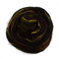 Gazzal Felt Wool Lurex Siyah Ebruli Yün Keçe - 600