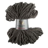 Gazzal Pure Wool Gri El Örgü İpi - 5248