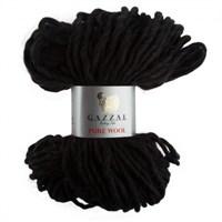 Gazzal Pure Wool Siyah El Örgü İpi - 5249
