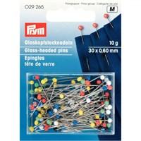 Prym 10 Gr Karışık Renk Cam Boncuk Başlı İğne - 029265