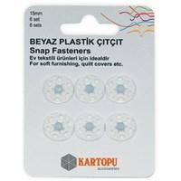 Kartopu 15 Mm Beyaz 6 Set Plastik Çıt Çıt - K007.1.0027