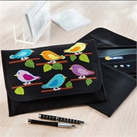 Duftin Kuş Desenli Tablet Bilgisayar Kılıfı Etamin Kiti - 19639-Aa0364