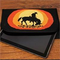 Duftin Kovboy Desenli Tablet Bilgisayar Kılıfı Etamin Kiti - 19642-Aa0364