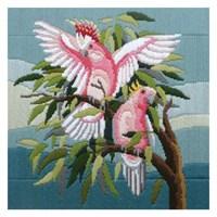Duftin 30X30 Cm Papağan Desenli Resim Uzun İşleme Kiti - Fls1011-Aa0400