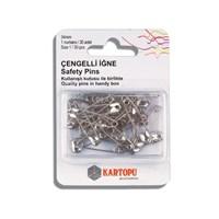 Kartopu 30 Adet Gümüş Rengi Çengelli İğne - K002.1.0025