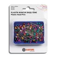 Kartopu Renkli Plastik Boncuk Başlı İğne - K002.1.0021