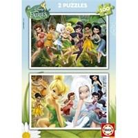 Educa Puzzle Fairies 2X100 Parça Karton Puzzle